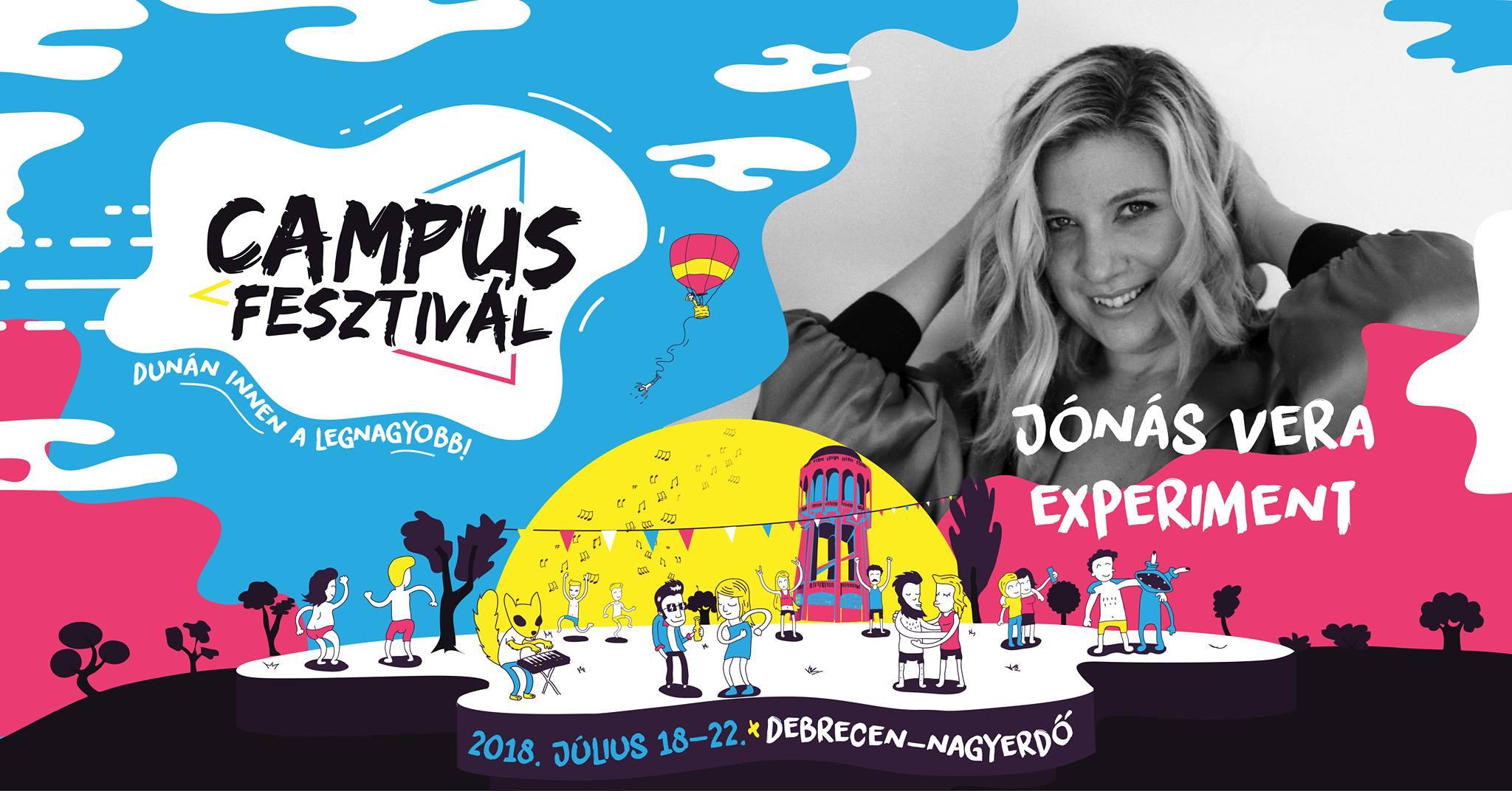 Jónás Vera Experiment - Campus Fesztivál - július 18