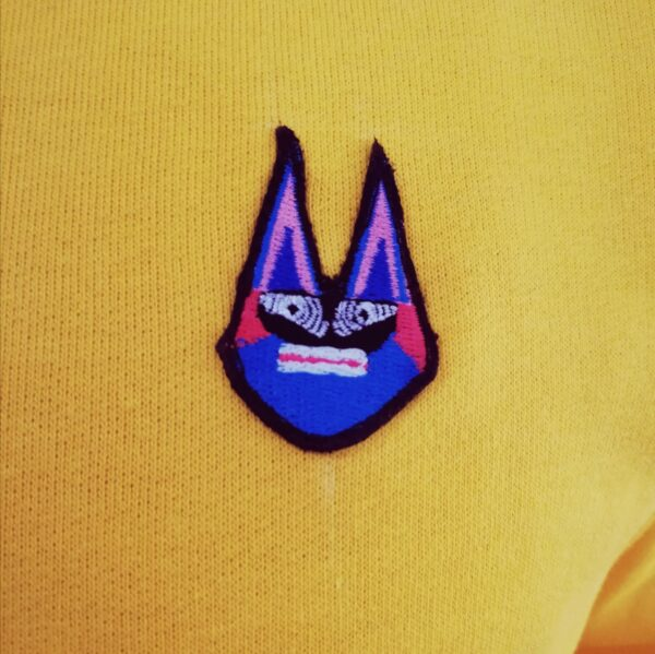sárga freakin' Disco pulóver mintája