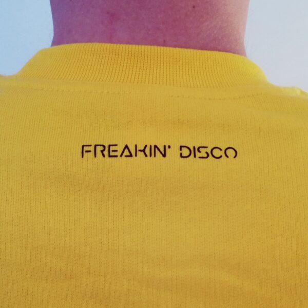 sárga freakin' Disco pulóver hátoldala